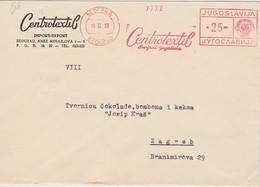YOUGOSLAVIE  1962 LETTRE DE BELGRADE EMA THEME TEXTILE - 1945-1992 République Fédérative Populaire De Yougoslavie