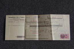 Lettre De Change De RODEZ - SOUQUIERES Et LABEIX, Articles De Ménage Avec Son Enveloppe Publicitaire. - Bills Of Exchange