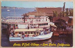 LOS ANGELES HARBOR, CALIFORNIA - Ports O'Call Village - San Pedro - Boat Princess And Lulu Kai At Dock - Los Angeles