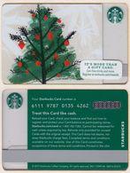 Starbucks - USA - 2015 - CN 6111 9787 Christmas Tree 2015 - Gift Cards