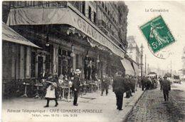 MARSEILLE - Adresse Télégraphique : Cafe Commerce - Marseille    (103630) - The Canebière, City Centre
