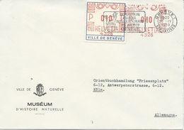 LETTRE DE 1959 AVEC OBLITERATION MECANIQUE EXPOSITION CANINE INTERNATIONALE GENEVE - Hunde