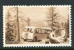"Simplon Reklamemarke Poster Stamp Vignette Hinged 1 7/8 X 1 1/8"" - Cinderellas"