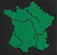 Carte De France En Plastique - Objet Vintage Utilisé Dans Les écoles Pour Apprendre La Géographie - Autres Collections