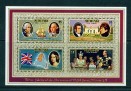 AITUTAKI - 1977 Silver Jubilee Miniature Sheet Unmounted Mint - Aitutaki