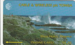 Tonga - Blow Holes, Houma - 1CTGC - Tonga