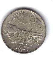 500 LIRE 1965 Dante  TOP PRICE D.4466 - 500 Liras