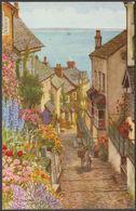 Down-a-Long, Clovelly, Devon, C.1950 - Salmon Postcard - Clovelly