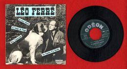 LEO FERRE   LE JAZZ BAND  LE TEMPS DU TANGO  MON CAMARADE LES COPAINS D LA NEVILLE    45 T 1958  -  MOE 2175  ODEON - Other - French Music