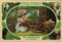 SAO TOME AND PRINCIPE 1981  International Year Of The Child  (IMPERFORATED) DOGS - Sao Tomé Y Príncipe