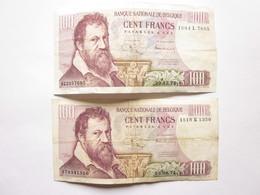 2 Billets De 100 Francs - Type Lombard -1971 - 100 Francs