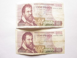 2 Billets De 100 Francs - Type Lombard -1971 - [ 2] 1831-... : Belgian Kingdom