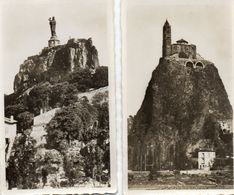 2 Photos  - LE  PUY  - Rocher St Michel , L'Aiguille -   Rocher Corneille - Reproductions