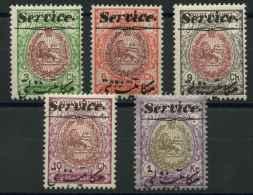 Iran (1913) Service N 27 A 30 + 32 (Luxe) - Irán
