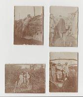 Photo Militaria - Lot 4 Photos Tranchées - 1914-18