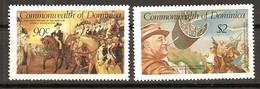 Dominica Dominique 1982 Yvertn° 739-740  *** MNH Cote 33 FF George Washington Et Roosevelt - Dominique (1978-...)