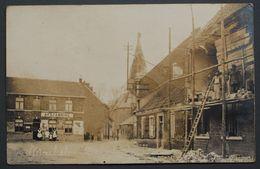Machelen - Photo-carte - 1919 - Dorplaats - Reconstruction - 1914-1918 - Photo A. Christiaens-Dhondt - Thielt - Machelen