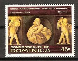 Dominica Dominique 1983 Yvertn° 781 MNH Cote 5 FF Noël Kerstmis Raphael - Dominique (1978-...)