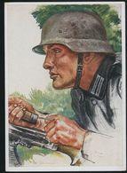 AK/CP Panzer Pionier    Willrich  Propaganda  Ungel/uncirc. 1933-45  Erhaltung/Cond. 2   Nr. 00371 - Guerra 1939-45