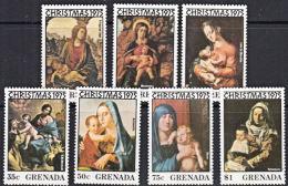 A1181 GRENADA 1975, SG 753-9  Christmas,  MNH - Grenada (1974-...)