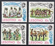 A1178 LESOTHO 1975,  SG 291-4  Traditional Dances,  MNH - Lesotho (1966-...)