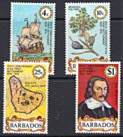 A5219 BARBADOS 1976, SG 538-41  350th Anniversary Of First Settlement,  MNH - Barbados (1966-...)