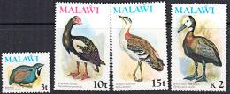 B0513 MALAWI 1975, SG 501-4  Bird Definitives, No Watermark,  MNH - Malawi (1964-...)