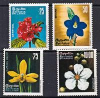B0257 SRI LANKA 1976, SG 611-4  Indigenous Flowers,  MNH - Sri Lanka (Ceylon) (1948-...)
