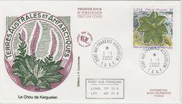 TAAF FDC 2002 Flore Chou 333 - FDC