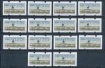 Berlin ATM 1987 14 Werte 10 .. 300 **  VS 1 Kpl. - Berlin (West)