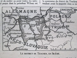 Silesie  1919 Guerre 14-18  Chronique De La Semaine    Du 6 Au 13 Février  TESCHEN  SILESIE  CAFE - Documentos Antiguos