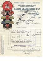 29 - Finistère - DOUARNENEZ - Facture CHANCRELLE - Conserves De Poissons - 1930 - REF 273A - 1900 – 1949