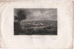 Gravure Ancienne/ JERUSALEM/ Richard En Palestine/ Nyon Sct/ Furne Paris/ Mi-XIXème Siècle    GRAV304 - Prints & Engravings