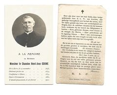 P 86. Révérend Monsieur Le Chanoine H. COUNE - °HEERS 1845 / +CORSWAREM 1910 - Imágenes Religiosas