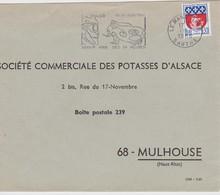 FRANCE 1966 LETTRE DU MANS OMEC 24 HEURES DU MANS  AUTO - Mechanical Postmarks (Advertisement)