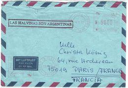 ARGENTINE - PROPAGANDE EN FAVEUR DES MALUINES ARGENTINES SUR LETTRE AVION AVRIL 1983 - Argentine