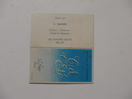Calendrier De 1961 Offert Par G. Mauger Coiffeur-parfumeur Dames & Hommes Au Grandes-Ventes (76). - Calendars