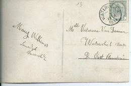 Fantasiekaart Met OCB 81 - Afstempeling WATERVLIET Type 2L - COBA 15 - 1893-1907 Wapenschild