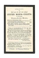 Z 228. Zuster MARIA-COLETA ( Maria-Agnes MOIES) - °OPHEERS 1828 /Clarissen-Coletinnen Te SINT-TRUIDEN En Aldaar + 1902 - Devotion Images
