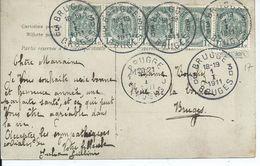 Fantasiekaart Met OCB 81 - Afstempeling BRUGGE 3 - 1893-1907 Wapenschild