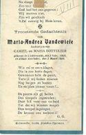 MA66/  °LICHTERVELDE 1908 + 1909  MARIA VANDEWIELE - Religion & Esotericism