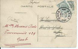 Zichtkaart Blankenberge Met OCB 81 - Afstempeling GENT 3 - 1893-1907 Wapenschild