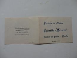 Carte Des Poids-diamètre-tonalité Des Fonderie De Cloches Cornille-Havard à Villedieu-les-Poeles (50). - Publicités