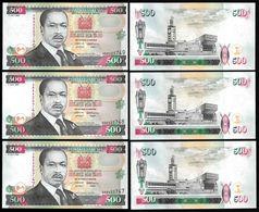 Kenya 500 SHILLINGS 1995 P 33 UNC LOT X 3 PCS (Kenia,Quénia) - Kenya