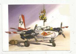Cp , Humour, Illutrateur, Signée Invader ,POMPIERS EN ZINGS , Aviation , Avion, A-26 - Pompieri