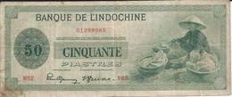 Indochine  50 Piastres   Nd(1945)   P77    TB - Indocina