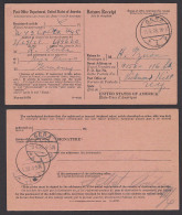 Return Receipt Post Office Department USA 1928 Gera, Avis De Reception - Deutschland