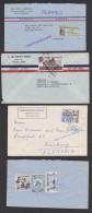 Ecuador 3 Letters, Recomade Exfigua 1958 Guayaquil, Biblioteca Y Mueseo Museum Bibliothek - Ecuador