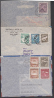 Chila  3 Covers, Santiago De Chile Arica Air-stamps Flugzeuge, - Chile