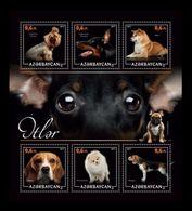 Azerbaïjan (KM) 2017 No. 19/24 Fauna. Dogs (II) MNH ** - Azerbaïjan